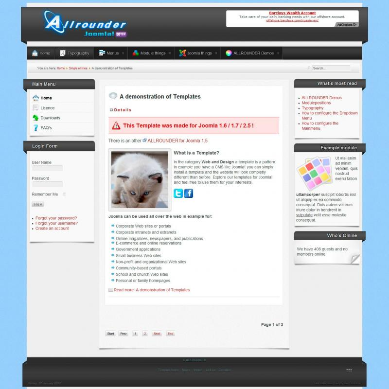 Joomla130 free joomla template download
