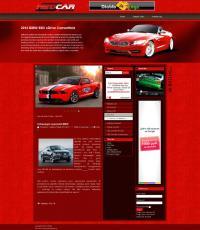 Шаблон Red Car