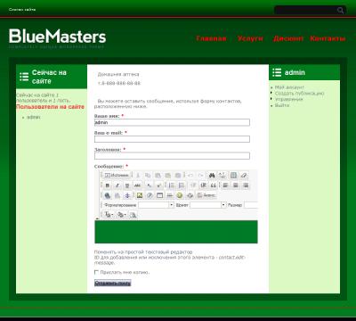 Переделанный шаблон bluemasters