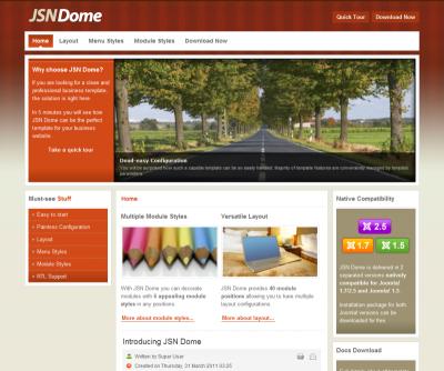 Шаблон Jsn Dome free