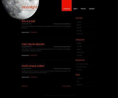 Шаблон Moonlight